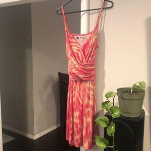 Jennifer Lopez pink wrap summer dress